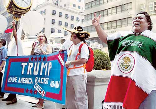 Que pague Trump - Méxicanos protestan