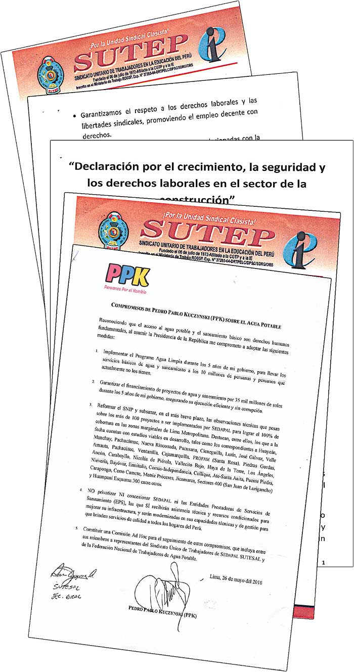 Documentos de SUTEP demandas