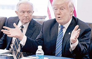 Jeff Sessions y Donald Trump