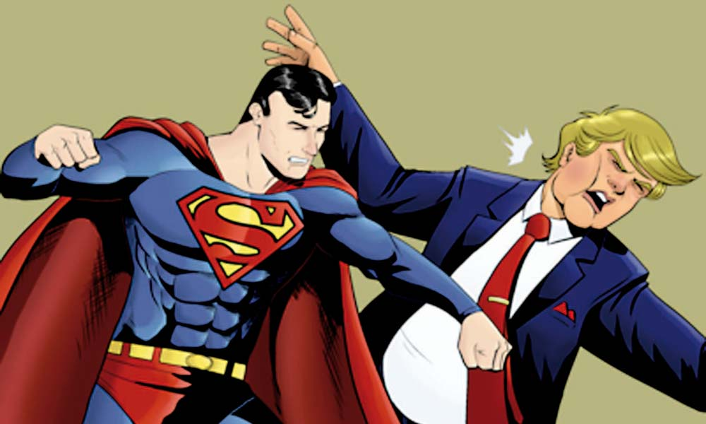 Superman y Donald Trump