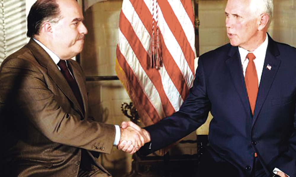 Pence y opositor Borges
