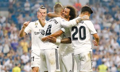 Real Madrid celebrando