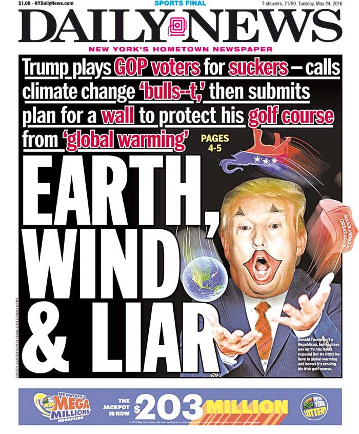 Portada Daily News - Donald Trump