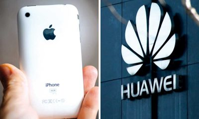 Huawei y Apple iPhone