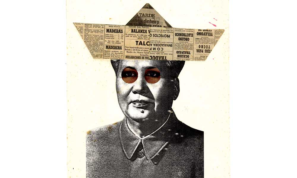 Herbert Rodríguez. MAD MAO. Collage 1984
