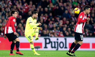 Lionel Messi en Barcelona enfrenta al Athletic de Bilbao